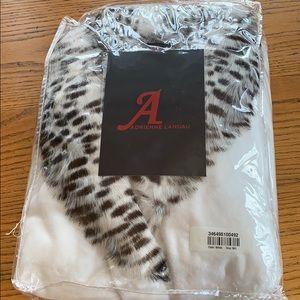 fe81ea83f5 Adrienne Landau plush robe w faux fur NWT M L